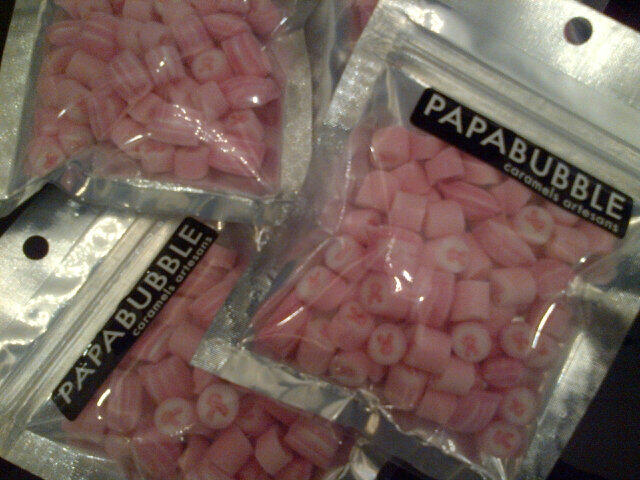 Candies for the event also promoting cancer awareness!