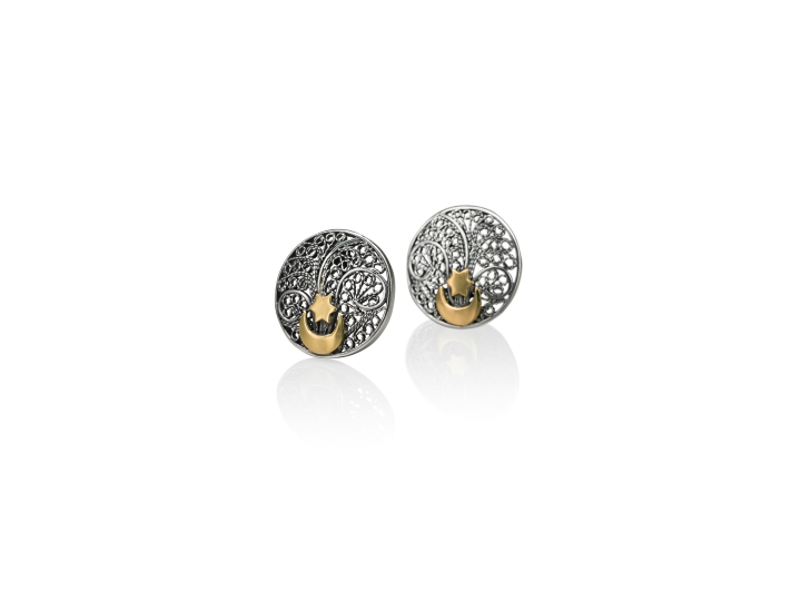 Button Filigree Earrings