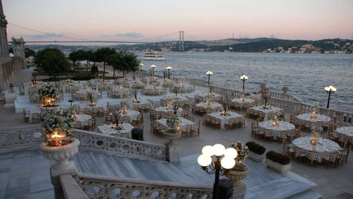 Palace-Terrace Wedding setup