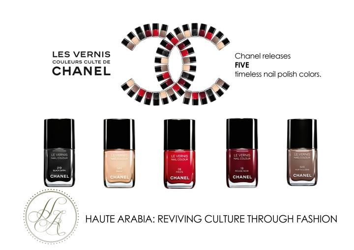 Editor's Pick - Chanel releases five timeless nail polish colors.