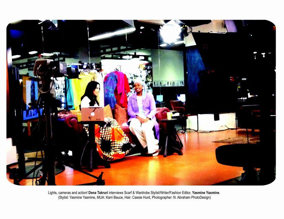 Dena Takruri, Huffington Post Live Host interviews Fashion Stylist & Writer Yasmine Yasmine