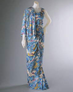 Dress with matching veil (draped across shoulder) by Elsa Schiaparelli, 1938. Image courtesy of the Philadelphia Museum of Art.