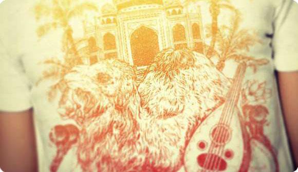 SHARQ & GHARB Arabian Sunset T-Shirt